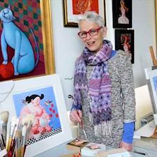 Ada Breedveld aan het werk